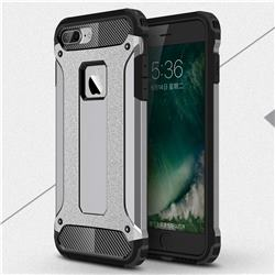 King Kong Armor Premium Shockproof Dual Layer Rugged Hard Cover for iPhone 6s Plus / 6 Plus 6P(5.5 inch) - Silver Grey