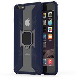 Predator Armor Metal Ring Grip Shockproof Dual Layer Rugged Hard Cover for iPhone 6s Plus / 6 Plus 6P(5.5 inch) - Blue