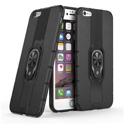 Alita Battle Angel Armor Metal Ring Grip Shockproof Dual Layer Rugged Hard Cover for iPhone 6s Plus / 6 Plus 6P(5.5 inch) - Black