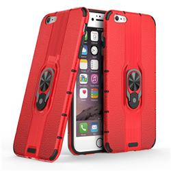 Alita Battle Angel Armor Metal Ring Grip Shockproof Dual Layer Rugged Hard Cover for iPhone 6s Plus / 6 Plus 6P(5.5 inch) - Red
