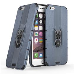 Alita Battle Angel Armor Metal Ring Grip Shockproof Dual Layer Rugged Hard Cover for iPhone 6s Plus / 6 Plus 6P(5.5 inch) - Blue