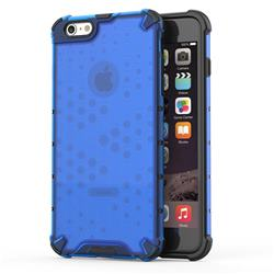 Honeycomb TPU + PC Hybrid Armor Shockproof Case Cover for iPhone 6s Plus / 6 Plus 6P(5.5 inch) - Blue