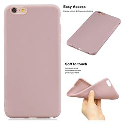 Soft Matte Silicone Phone Cover for iPhone 6s Plus / 6 Plus 6P(5.5 inch) - Lotus Color