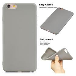 Soft Matte Silicone Phone Cover for iPhone 6s Plus / 6 Plus 6P(5.5 inch) - Gray