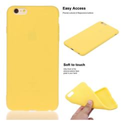 Soft Matte Silicone Phone Cover for iPhone 6s Plus / 6 Plus 6P(5.5 inch) - Yellow