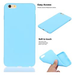 Soft Matte Silicone Phone Cover for iPhone 6s Plus / 6 Plus 6P(5.5 inch) - Sky Blue