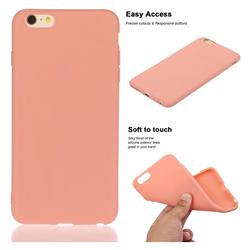 Soft Matte Silicone Phone Cover for iPhone 6s Plus / 6 Plus 6P(5.5 inch) - Coral Orange