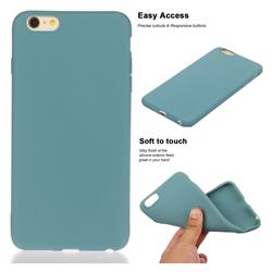 Soft Matte Silicone Phone Cover for iPhone 6s Plus / 6 Plus 6P(5.5 inch) - Lake Blue