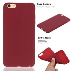 Soft Matte Silicone Phone Cover for iPhone 6s Plus / 6 Plus 6P(5.5 inch) - Wine Red