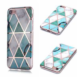 Green White Galvanized Rose Gold Marble Phone Back Cover for iPhone 6s Plus / 6 Plus 6P(5.5 inch)