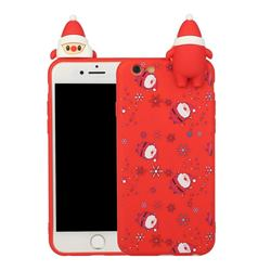 Snowflakes Gloves Christmas Xmax Soft 3D Doll Silicone Case for iPhone 6s Plus / 6 Plus 6P(5.5 inch)