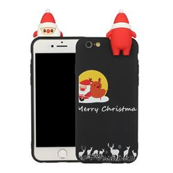 Santa Elk on Moon Christmas Xmax Soft 3D Doll Silicone Case for iPhone 6s Plus / 6 Plus 6P(5.5 inch)