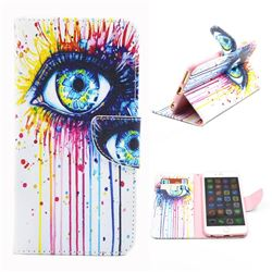 Eye Painting Leather Wallet Case for iPhone 6 Plus (5.5 inch)