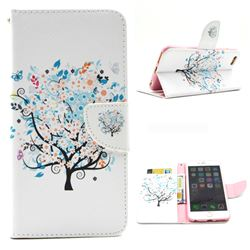 Colorful Tree Leather Wallet Case for iPhone 6 Plus (5.5 inch)