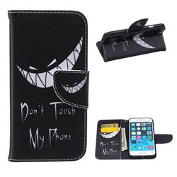 Crooked Grin Leather Wallet Case for iPhone 6 Plus (5.5 inch)