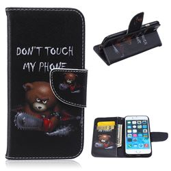 Chainsaw Bear Leather Wallet Case for iPhone 6 Plus (5.5 inch)