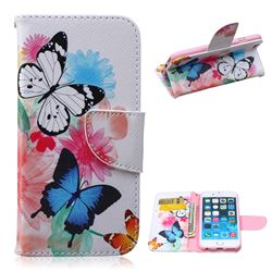 Vivid Flying Butterflies Leather Wallet Case for iPhone 6 Plus (5.5 inch)