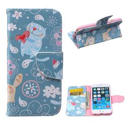 Loving Cat Leather Wallet Case for iPhone 6 Plus (5.5 inch)
