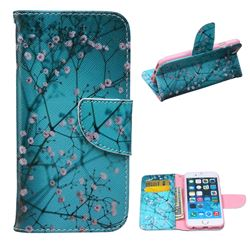 Blue Plum Leather Wallet Case for iPhone 6 Plus (5.5 inch)