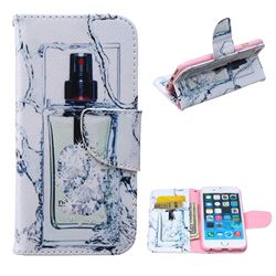 Perfume Bottle Leather Wallet Case for iPhone 6 Plus (5.5 inch)
