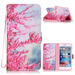 Plum Flower Leather Wallet Phone Case for iPhone 6s Plus / 6 Plus (5.5 inch)