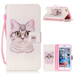 Lovely Cat Leather Wallet Phone Case for iPhone 6s Plus / 6 Plus (5.5 inch)