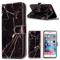 Black Gold Marble PU Leather Wallet Case for iPhone 6s Plus 6 Plus(5.5 inch)