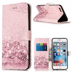 Glittering Rose Gold PU Leather Wallet Case for iPhone 6s Plus 6 Plus(5.5 inch)