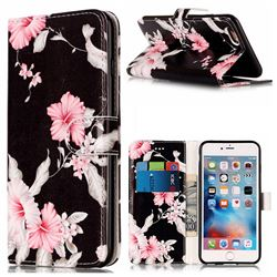 Azalea Flower PU Leather Wallet Case for iPhone 6s Plus 6 Plus(5.5 inch)