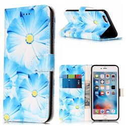 Orchid Flower PU Leather Wallet Case for iPhone 6s Plus 6 Plus(5.5 inch)