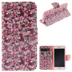 Intensive Floral PU Leather Wallet Case for iPhone 6s Plus / 6 Plus 6P(5.5 inch)