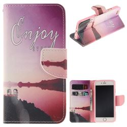 Seaside Scenery PU Leather Wallet Case for iPhone 6s Plus / 6 Plus 6P(5.5 inch)