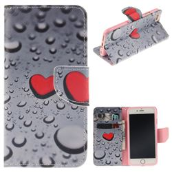 Heart Raindrop PU Leather Wallet Case for iPhone 6s Plus / 6 Plus 6P(5.5 inch)