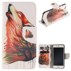 Color Wolf PU Leather Wallet Case for iPhone 6s Plus / 6 Plus 6P(5.5 inch)