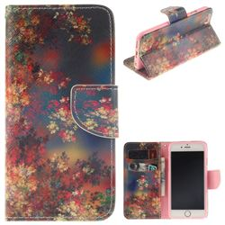 Colored Flowers PU Leather Wallet Case for iPhone 6s Plus / 6 Plus 6P(5.5 inch)