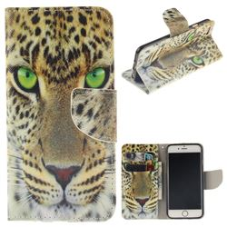 Yellow Tiger PU Leather Wallet Case for iPhone 6s Plus / 6 Plus 6P(5.5 inch)