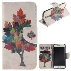 Colored Tree PU Leather Wallet Case for iPhone 6s Plus / 6 Plus 6P(5.5 inch)