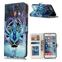 Ice Wolf 3D Relief Oil PU Leather Wallet Case for iPhone 6s Plus / 6 Plus 6P(5.5 inch)