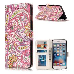 Pepper Flowers 3D Relief Oil PU Leather Wallet Case for iPhone 6s Plus / 6 Plus 6P(5.5 inch)