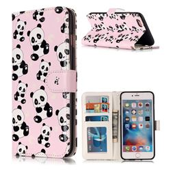Cute Panda 3D Relief Oil PU Leather Wallet Case for iPhone 6s Plus / 6 Plus 6P(5.5 inch)