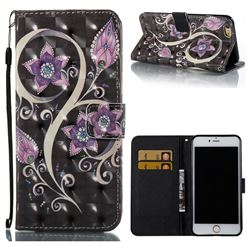 Peacock Flower 3D Painted Leather Wallet Case for iPhone 6s Plus / 6 Plus 6P(5.5 inch)