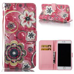 Tulip Flower 3D Painted Leather Wallet Case for iPhone 6s Plus / 6 Plus 6P(5.5 inch)