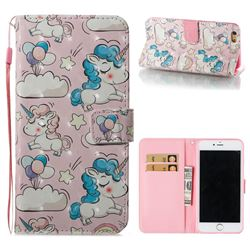 Angel Pony 3D Painted Leather Wallet Case for iPhone 6s Plus / 6 Plus 6P(5.5 inch)