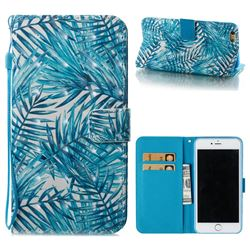 Banana Leaves 3D Painted Leather Wallet Case for iPhone 6s Plus / 6 Plus 6P(5.5 inch)