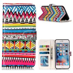 Tribal Pattern 3D Relief Oil PU Leather Wallet Case for iPhone 6s Plus / 6 Plus 6P(5.5 inch)