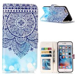 Totem Flower 3D Relief Oil PU Leather Wallet Case for iPhone 6s Plus / 6 Plus 6P(5.5 inch)