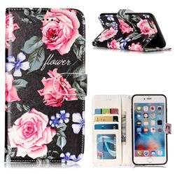 Peony 3D Relief Oil PU Leather Wallet Case for iPhone 6s Plus / 6 Plus 6P(5.5 inch)