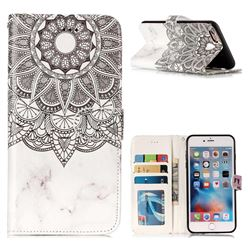 Marble Mandala 3D Relief Oil PU Leather Wallet Case for iPhone 6s Plus / 6 Plus 6P(5.5 inch)