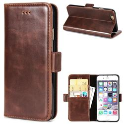 Luxury Crazy Horse PU Leather Wallet Case for iPhone 6s Plus / 6 Plus 6P(5.5 inch) - Coffee