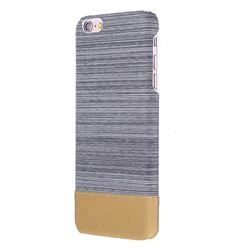 Canvas Cloth Coated Plastic Back Cover for iPhone 6s Plus / 6 Plus 6P(5.5 inch) - Light Grey